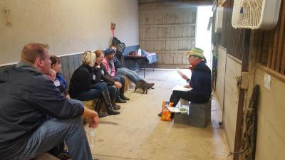 HorseTalk begins in the barn