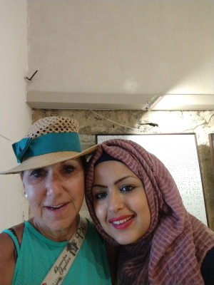 Visiting with Palestinian girl in Tel Aviv