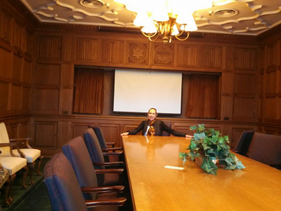 Boardroom at formal Goodyear headquarters!